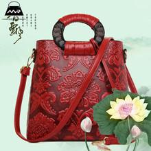 The Spring Of 2016 New Leather Red Mother Solid Bag Special Offer Hot Sale Shoulder Bag Printed Handbag Women Soft Boston Bags
