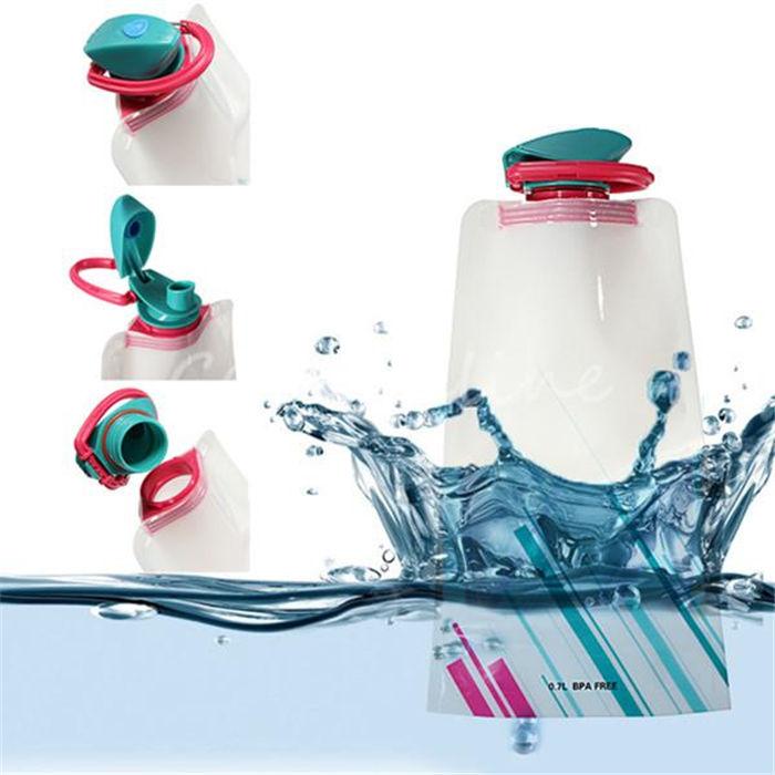 белый экологической мультфильм складная бутылка воды