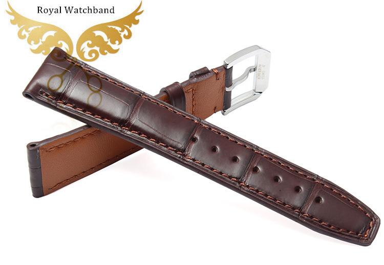 Продвижение! Подлинная коричневая кожи аллигатора / ремешок браслет предназначен для марка 22 или 20 мм