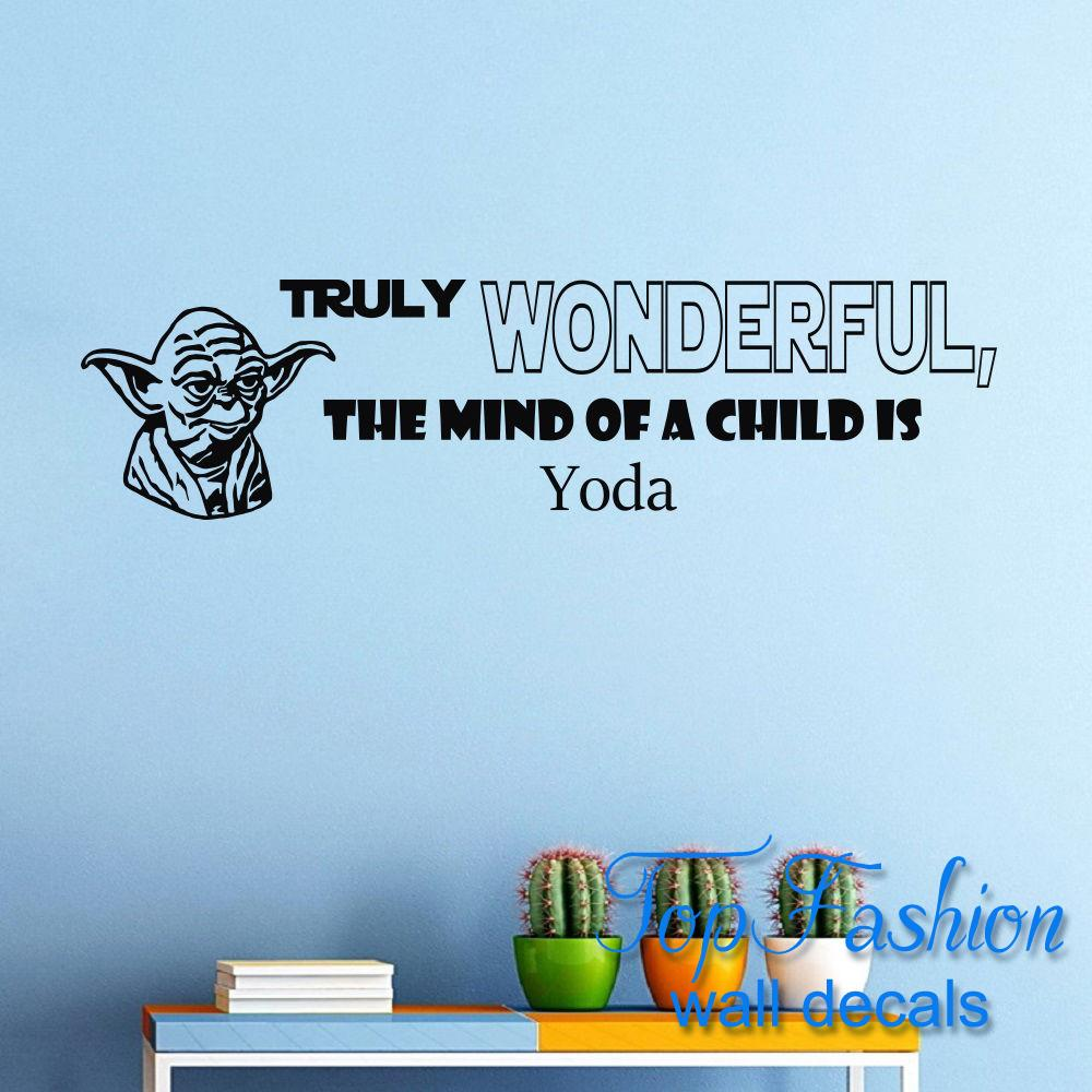 Star Wars Quote Wall Decals Truly Wanderful Sayings Decor Vinyl Wall Sticker Murals Boy s Rooms