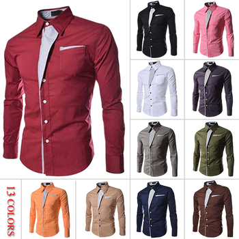2015 Hot sale! Free shipping New Designer Fashion Luxury Slim Fit Dress Men's Shirts 8012