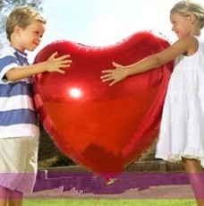 """Wedding balloons supplier marry party 32"""" Big love red heart balloons 10pcs/Lot(China (Mainland))"""