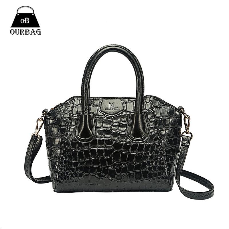 New Fashion Womens Crocodile Good Leather Lady Shoulder Bags Crossbody Bag Girls Zipper Bolsa Famous Brand Style Handbags Totes<br><br>Aliexpress