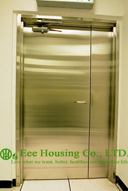 Chemical Resistant Stainless steel 90 min fire rated industrial hinged door(China (Mainland))