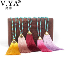Buy V.YA Statement Jewelry Women Boho Necklace Bohemia Handmade Long Chain Femme Tassel Necklaces Bijoux for $2.99 in AliExpress store