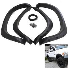 03-09 2500 3500 Textured Black Finish Truck ABS plastic Pickup for RAM Dodge 02-08 1500 4 pcs Fender Flares Pocket Rivet Style(China (Mainland))
