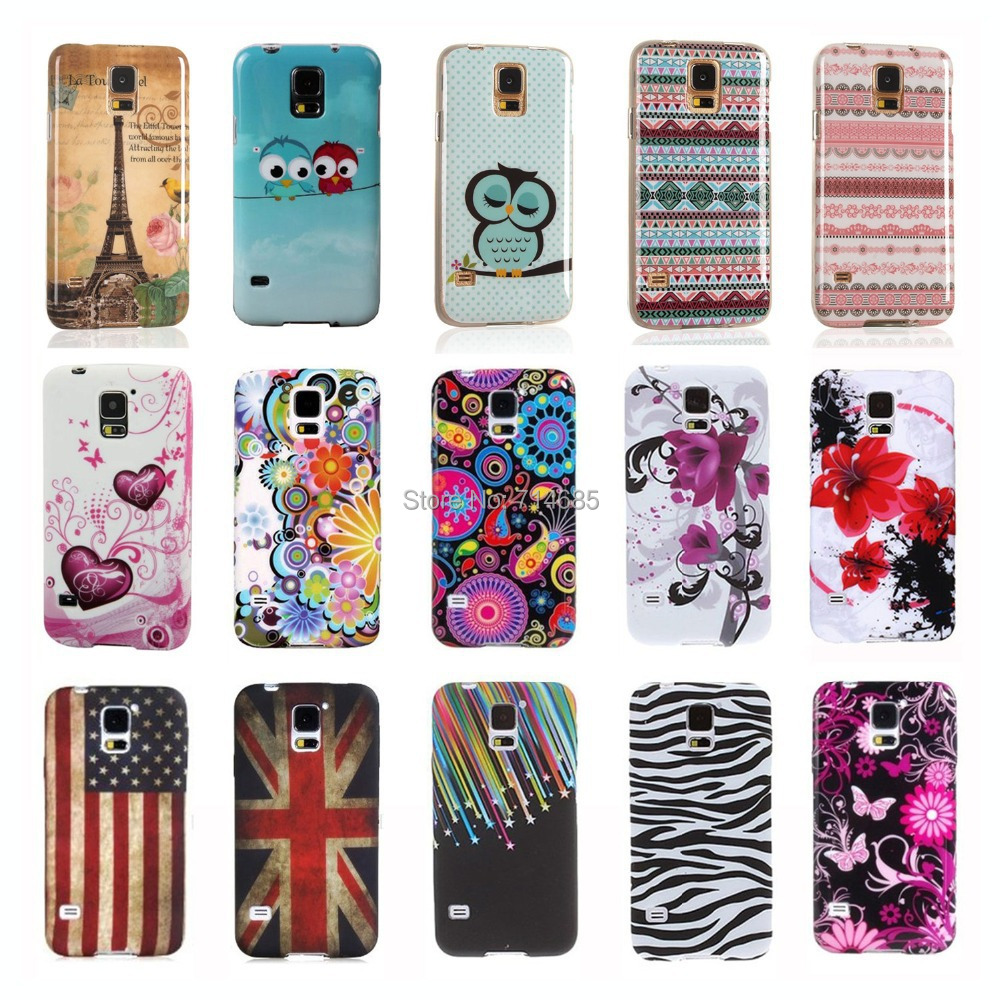 Cute Cool Butterfly Flower Owl Design S 5 MINI G800 Silicone Protector Phone Case for Samsung Galaxy S5 mini Back Cover Skin(China (Mainland))