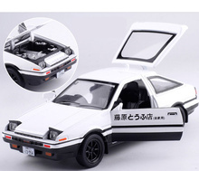 Buy Free Shipping/1:28 Scale/Diecast Toy Model/Initial D AE86 Car/Toyota Corolla Levin Sprinter Trueno/Pull Back/Sound & Light/Gift for $13.19 in AliExpress store