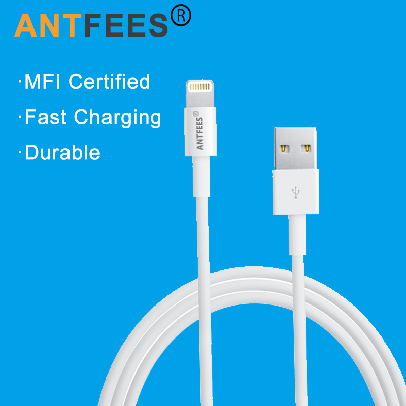 MFi iPhone Cable 1M 3M 8 Pin 2.4A Fast Charging Data Sync USB Cable Cords iPhone 5 5S 6 6S Plus 7 Plus iPad iPod iOS