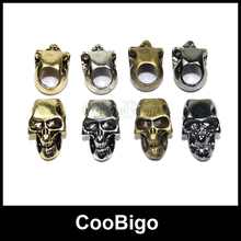 10pcs Pick Color Charm Metal Skull Beads Paracord Knife Lanyards Zipper Pull Molle Tactical Backpack Travel Kits#FLQ053(Mix-s)(China (Mainland))