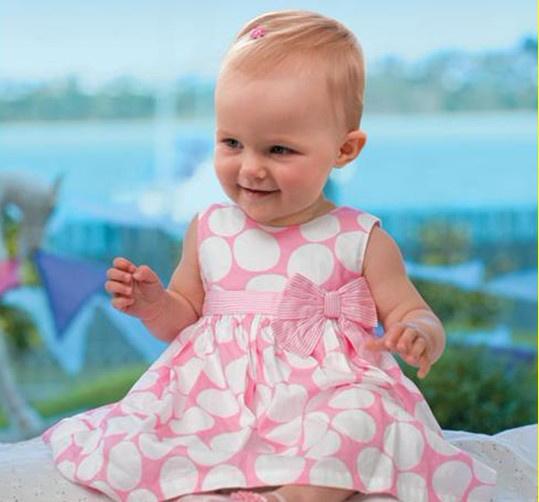 Pink baby dress/Round dots baby girl dress/2016 New Arrived Sleeveless lovely baby dress(China (Mainland))