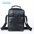 Business Genuine Leather Crossbody Bag Men s bags Sheepskin Small Shoulder messenger Bags Multiple Zipper