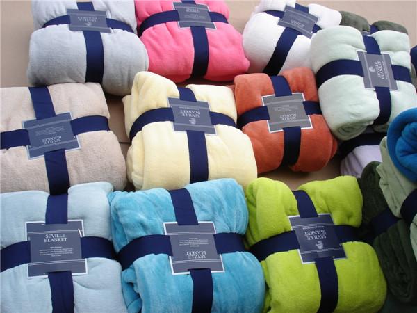 Seville super soft coral fleece large sheets wool blanket gift blanket original packaging(China (Mainland))