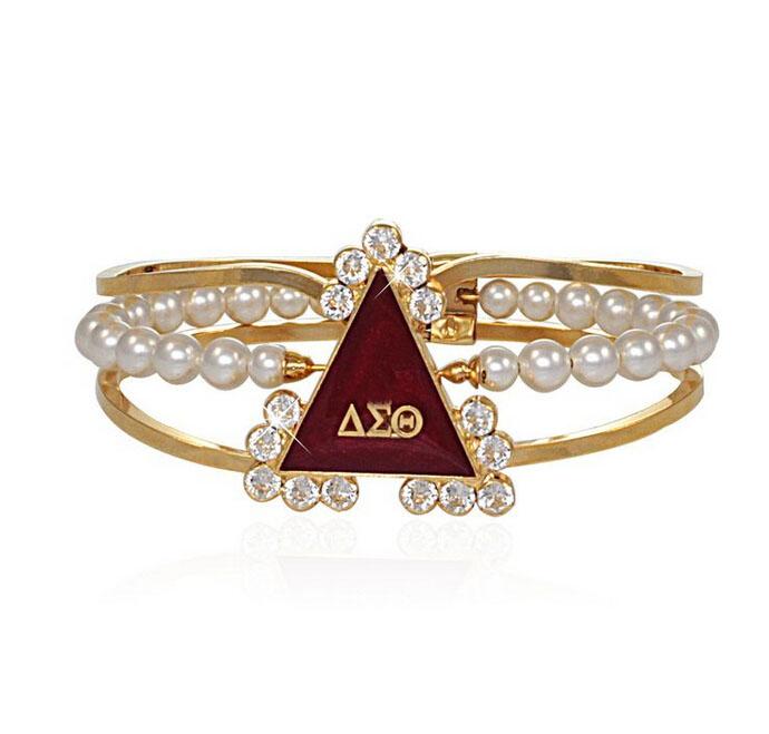 Delta Sigma Theta Earrings: 1pcs Delta Sigma Theta Sorority Bracelet DSTcharm Pearl