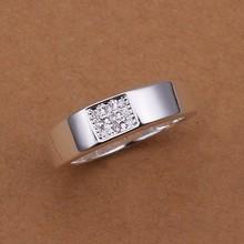 FSR246 2014 Newest Fashion 925 Silver CZ Diamond Wedding Ring For Men Women(China (Mainland))