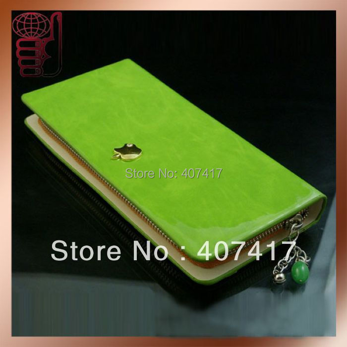 China Post Wholesale Fashion New Design Cheap Apple Women Leather Wallet Ladies' Purse Different Colors Available(China (Mainland))