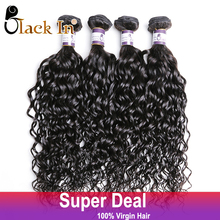 Raw Indian Curly Virgin Hair 4 Bundles Lot Indian Deep Wave Curly Weave Top Grade BLACK IN Virgin Human Hair Extension On Sale(China (Mainland))