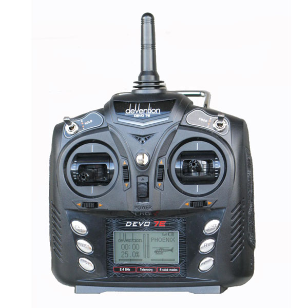 Walkera Devo 7E 7CH Transmitter Radio Control Mode 2 Without Receiver For Rc Helicopter