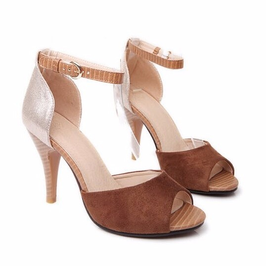 Size 33-43 Plus Small Size Women Sandals 2016 Summer Ankle Strapy Open Toe Lady High Heels Gladiator Sandals Rome Party Shoes