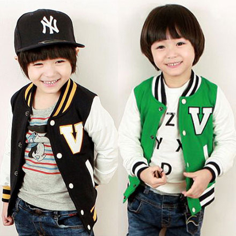 Casacos Hot Sale Promotion Free Shipping 2015 Autumn's Baby Boy V Korean Baseball Shirt Sleeved Coat Children Wt-2330 Wholesale(China (Mainland))