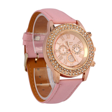NEW Vogue Women Ladies Crystal Big Dial Quartz Watches 3 Colors Women Beauty Dress Watch Round