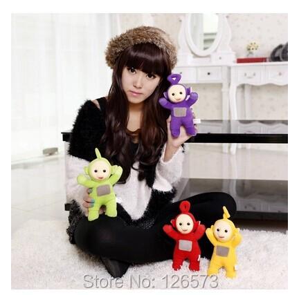 """Retail one set(1set=4pcs)Teletubby Plush Toy Doll Teletubbies 8"""" Laa Tinky Winky Plush toy Free Shipping(China (Mainland))"""