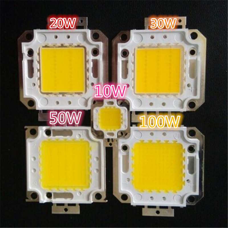 10pc 10W 20W=25W 30W 50W 100W=Other White/Warm white smd led lamp beads chips 24x40mil for High power(China (Mainland))