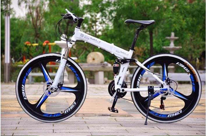 26 inch mountain bike folding bike folding bicycle disc brakes steel frame MTB can upgrade alloy frame 24 or 27 speed 160-185cm(China (Mainland))