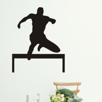 Free Shipping Running Hurdle Race Wall Stickers Sport, Running Wall Decal Home Decoration(China (Mainland))