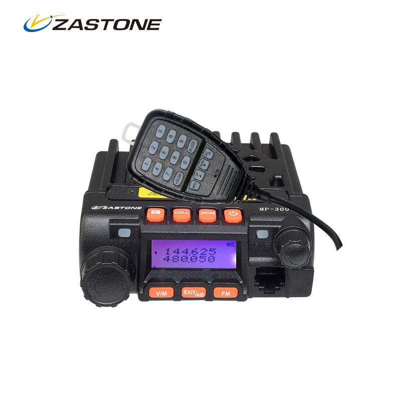 Zastone MP300 20W Car Walkie Talkie 10km Dual Band VHF UHF Mini Mobile Radio Transceiver CB Ham Radio For Hunting Radio Station(China (Mainland))