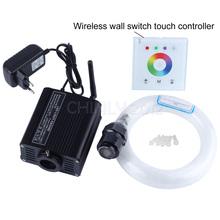 16 W RGBW 2.4G wireless interruttore della parete touch controller LED Fibra ottica light Kit del Soffitto della Stella Luci 200 pz 0.75mm 2 M + crystal(China (Mainland))