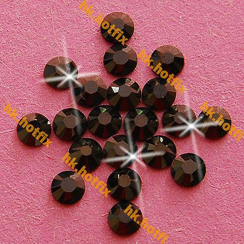 GENUINE Swarovski Elements ss16 Jet Nut ( 121 ) 720pcs Iron on 16ss Hot-fix Flatback Glass Crystal Beads 2038 Hotfix rhinestones