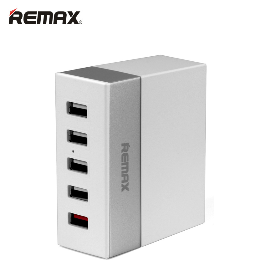 REMAX USB Smart AC Power Charger Adapter 5 Ports Fast Charging Desktop Travel Wall Socket Outlet For iPhone Samsung Smart Phone(China (Mainland))