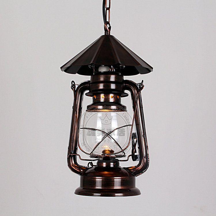 Фотография 2016 new Lantern retro kerosene lamp Iron Chandelier Nordic creative American restaurant bar lamp lighting garden aisle lights z