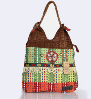 Free Shipping!Top-Promotion Hot national Type women carrybags national handmade Lady handbag wholesale outdoor shopping carrier(China (Mainland))