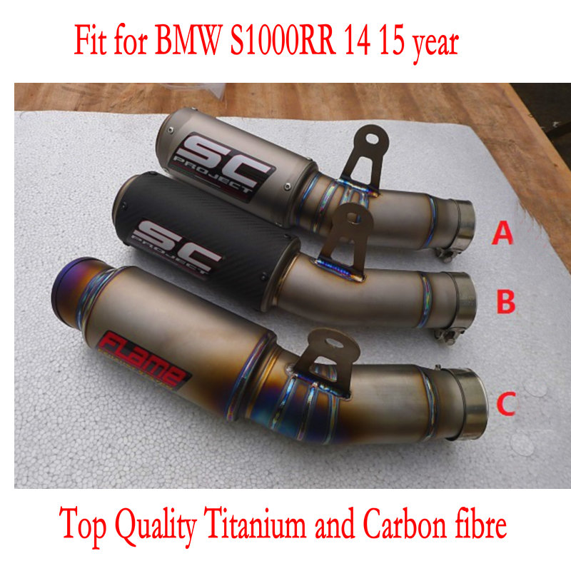 2016 new arrival akrapovic titanium exhaust pipe motorcycle SC project for BMW S1000RR 14 15 year ktm db killer free shpping(China (Mainland))