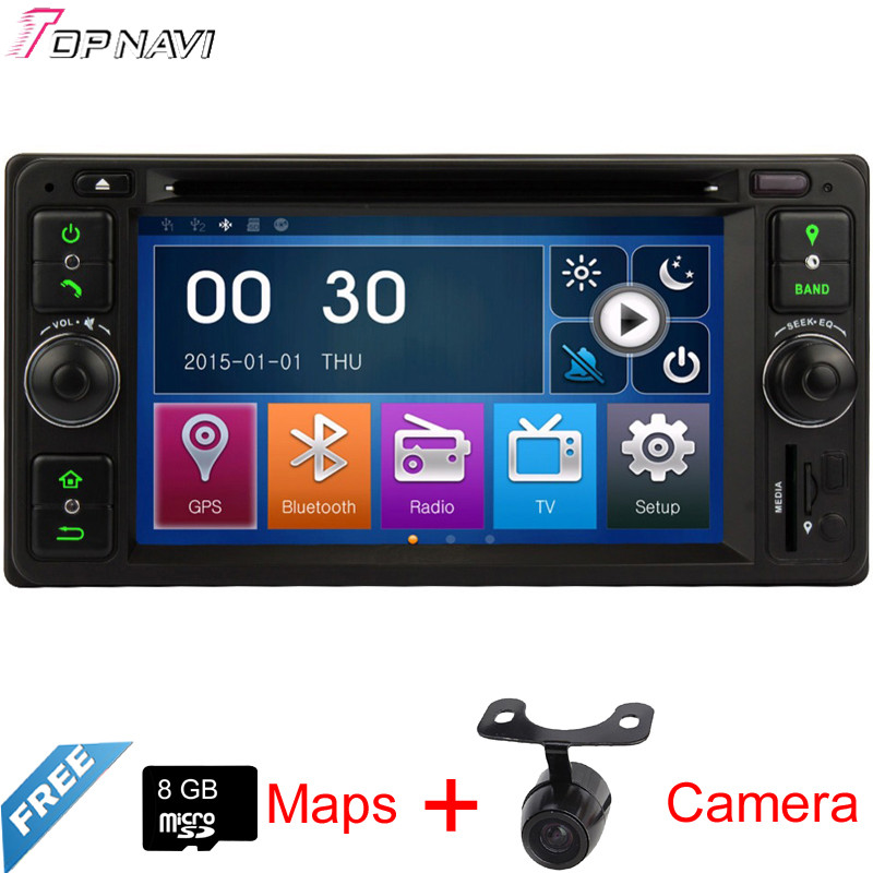 Professional 6.2'' Two Din Wince Car Stereo For Toyota Universal With DVD Radio GPS Map Bluetooth Rearview Camera Free Shipping(China (Mainland))