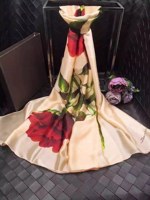 Мода 2016 новых прибыть с шелк весна лето осень цветы дизайн бренд шарф для женщин ...