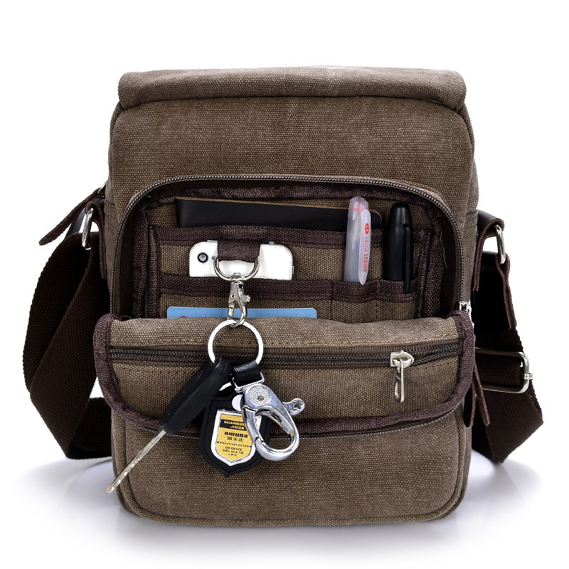 Canvas Leather Bahs Stonewashed Durable Masculina Messenger Canvas Bag #218 чашка canvas