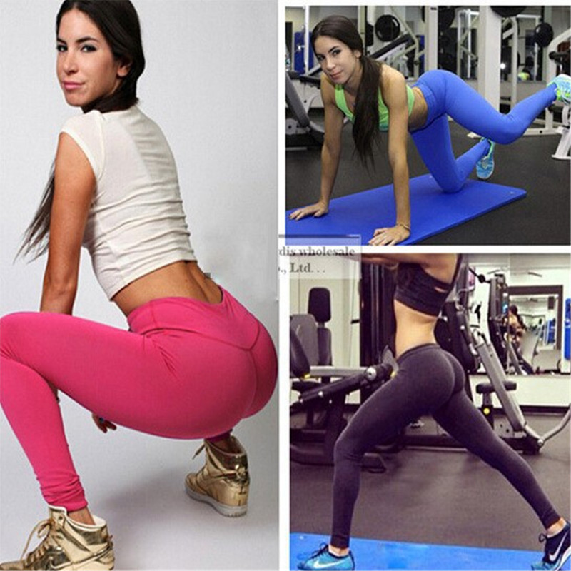 2016 Hot Sale Top Solid Mid Leggings Leggins Women American Apparel Ladies Sport Sexy And Fitness Legins(China (Mainland))