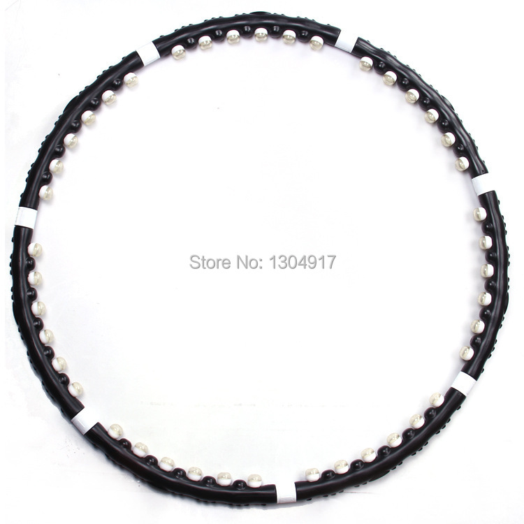 Free shipping Balck beauty dismountable and fashionable hula hoops with soft magnet massage to lose weight and keep healthy(China (Mainland))