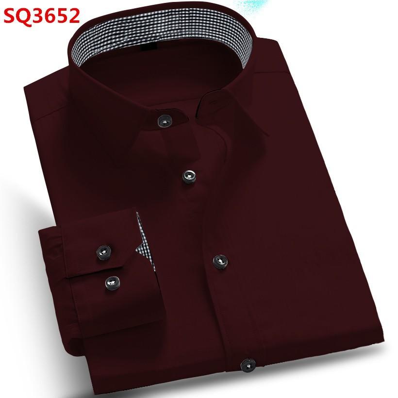 Новый 2016 весна осень хлопок рубашки высокое качество мужские свободного покроя рубашка, Свободного покроя мужчин Большой размер 4XL уменьшают подходящий социальные рубашки