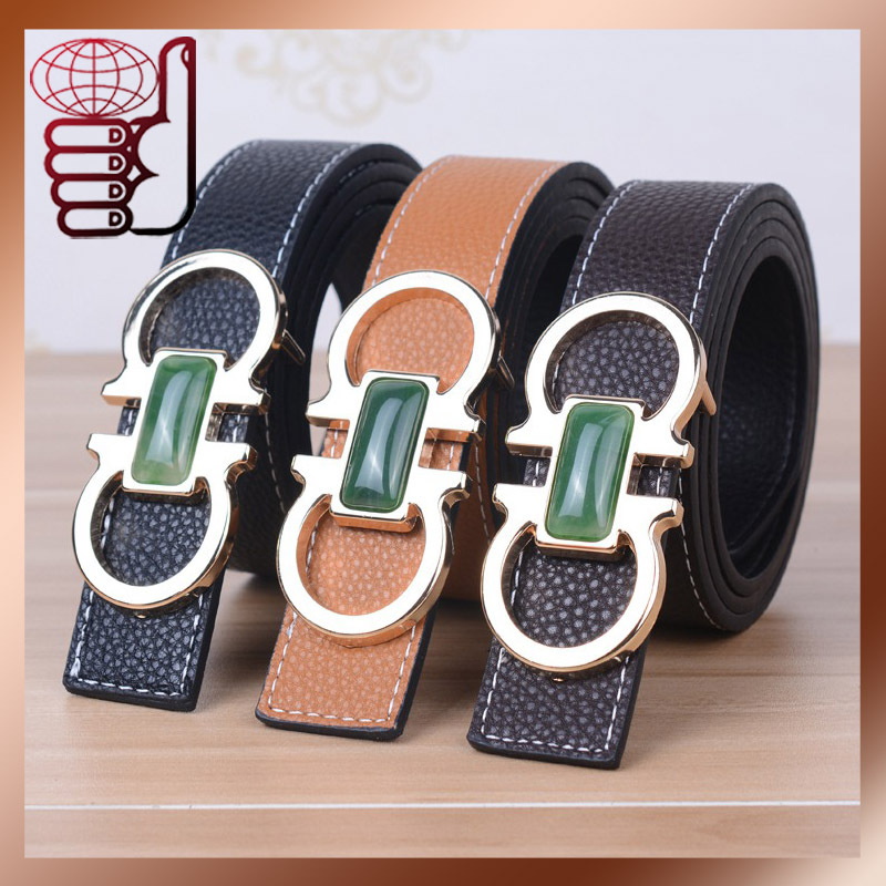 Factory Supply New Arrival High Quality PU Leather Men Belts Fashion Designer Women Low Price Belts Waist Alloy Buckle Belt(China (Mainland))
