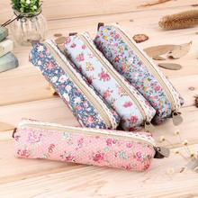 2015 Mini Retro Flower Floral Lace Pencil Case,pencil bag school supplies Cosmetic Makeup Bag Zipper Pouch Purse, estojo escolar(China (Mainland))