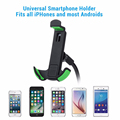 High Quality Universal 360 Rotation Gooseneck Car Phone Stand Holder with 2 1A Dual USB Car