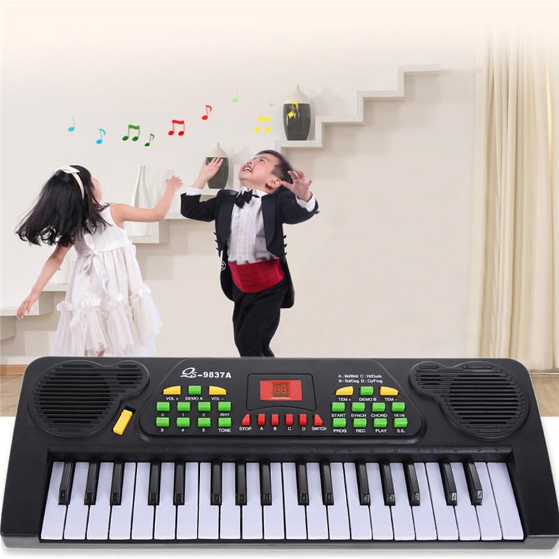 Baby Interested communication toys 37 Keys Music Electronic Keyboard Kid Electric Piano Organ W/Mic & Adapter Children Gifts(China (Mainland))