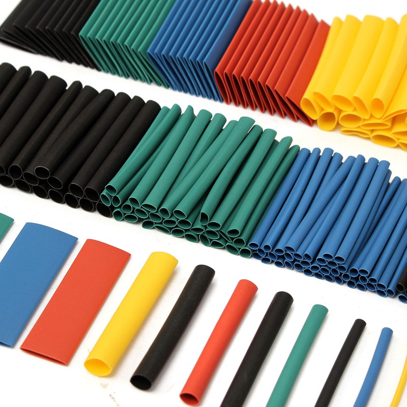 280Pcs 2:1 Heat Shrink Tubing Tube Wire Cable Sleeve 5 Colors 8 Size Assorted Polyolefin Halogen-Free for Wrap Set Sleeving Kits(China (Mainland))