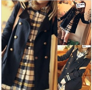 East Knitting 2013 autumn fashion women's vintage preppy style double breasted student clothing trench outerwear female - EAST KNITTING store