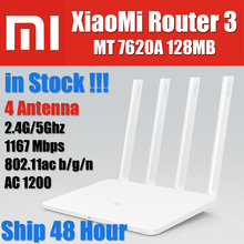 Stock English MT7620A 128MB Flash original xiaomi mi router 3 Dual band 4 antenna 5GHz 1167Mbps WiFi 802.11ac b/g/n APP Control(China (Mainland))