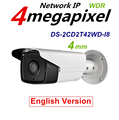 English Version 4MP PoE Camera DS 2CD2T42WD I8 Network Bullet IP security Camera 80m IR120dB Wide